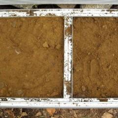 Kehikon lokerot voidaan täyttää. Tässä täytetty hiekalla.